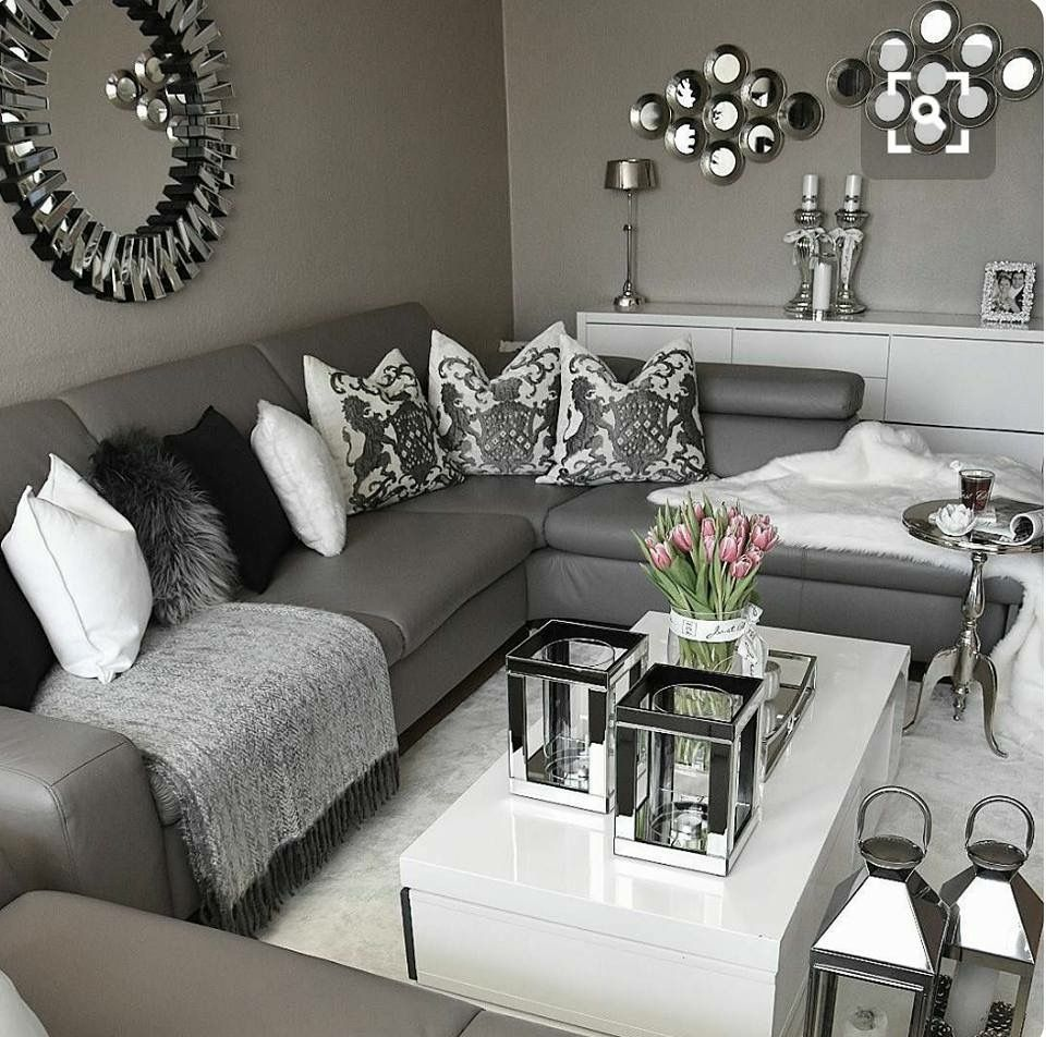 title   Black White And Silver Living Room Decor