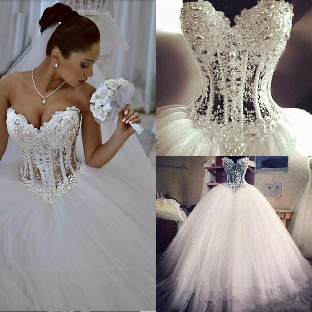 Ball Gown Wedding Dress Grey