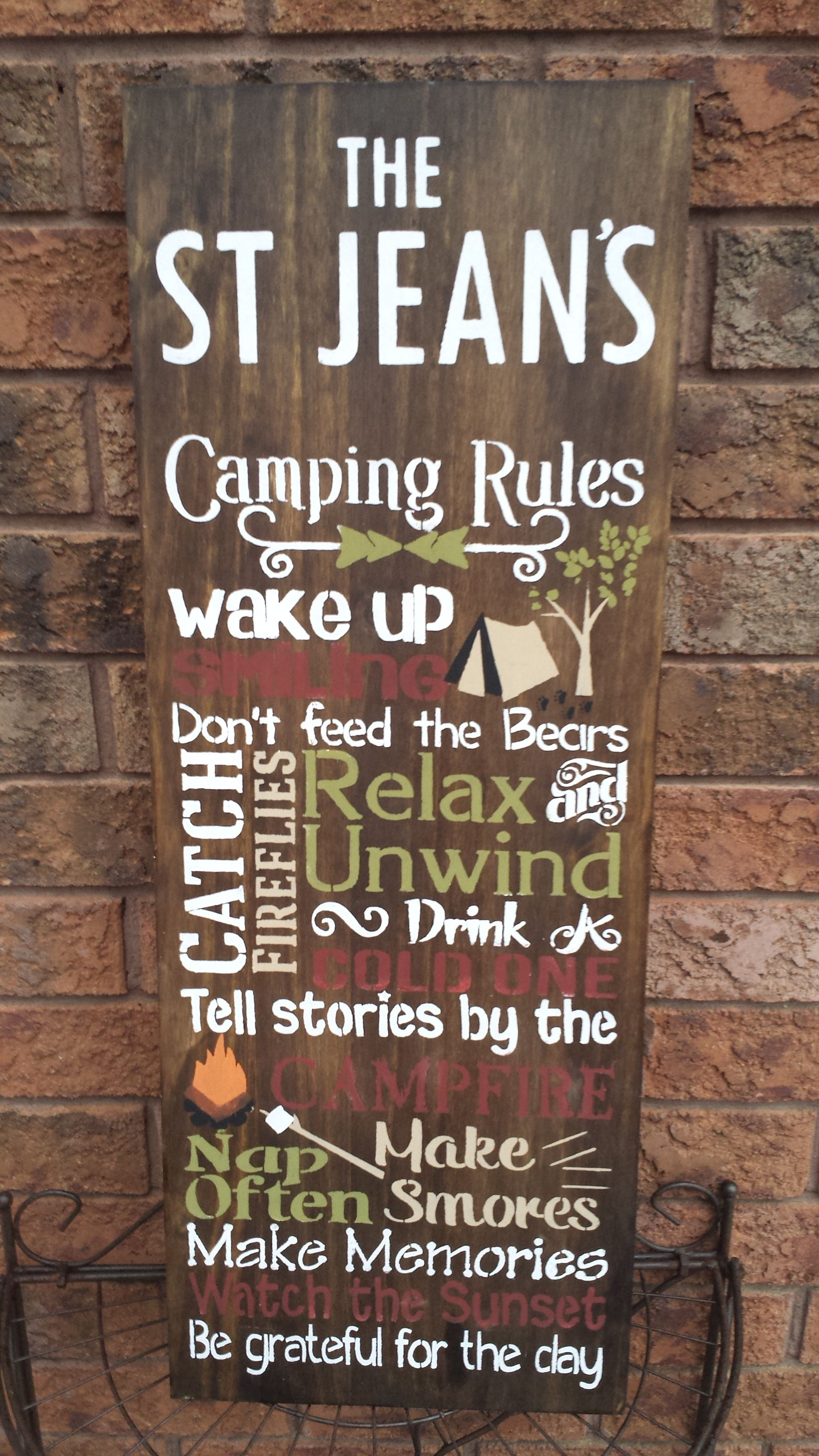Idea by Kimber Creations on TRAILER/CAMP POST SIGNS