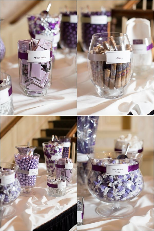 Purple Candy Bar Sweets And Desserts Favor Cigars Clic Gray Wedding Abby Grace Photography Justin Missy Pinterest