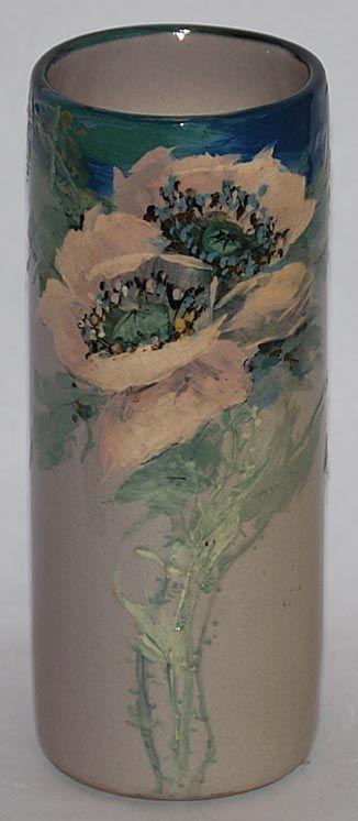 Weller Pottery Hudson Variant High Glaze Floral Vase
