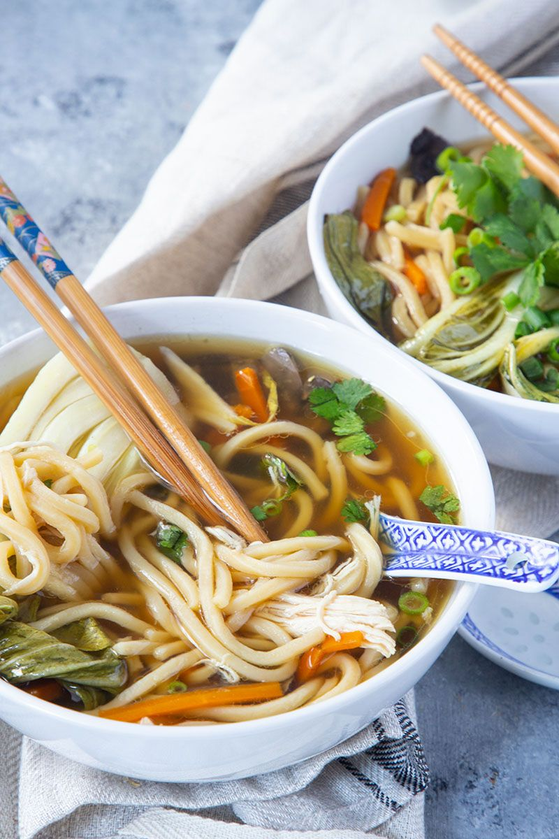 Slow Cooker Asian Chicken Noodle Soup Recipe Asian