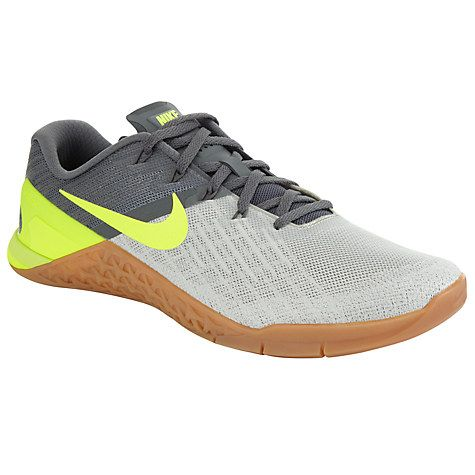 Buy Nike Metcon 3 Men's Cross Trainers, Grey/Volt Online at johnlewis.com