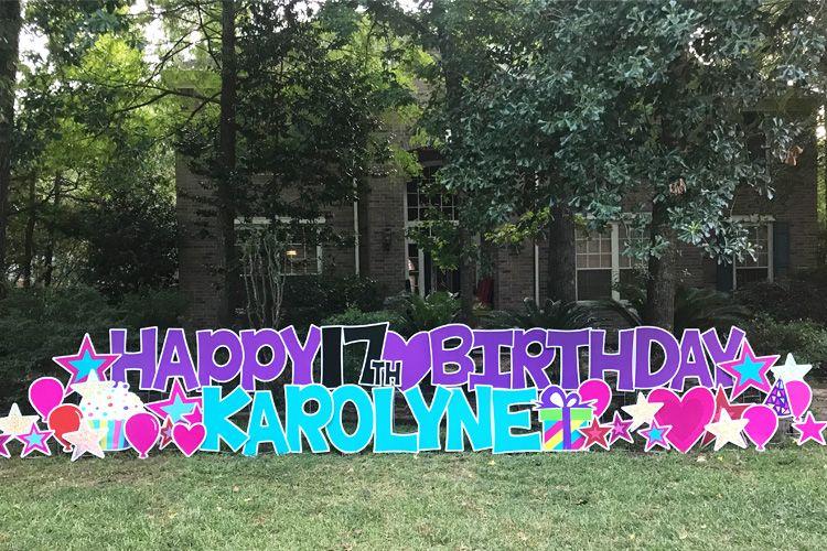 Card My Yard Home Birthday Yard Signs Happy Birthday Yard Signs Diy Graduation Cap