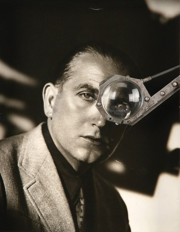 """Fritz Lang & the monocle he sported during the filming of """"Metropolis"""" (1927)"""