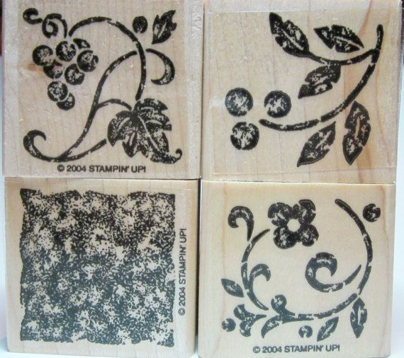 On Sale Stampin Up Floral Vine Border Rubber Stamp for Scrapbooking or Card Making Crafting Tool