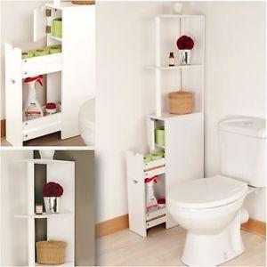 Meuble Wc Etagere Bois Gain De Place Pour Toilettes Wc Pinterest