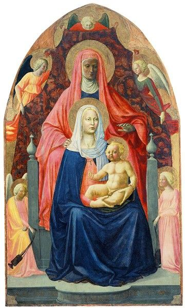 Masolino da Panicale (a painting of St. Anne, the Virgin, and the Christ Child)