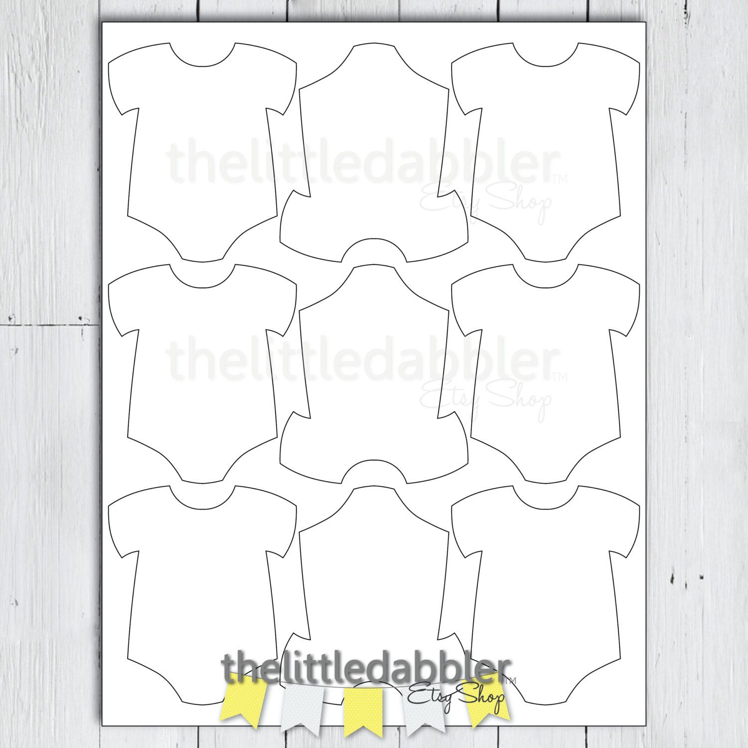 Baby Shower Mini Onesie Favor Thank You Gift Tag Template  Baby