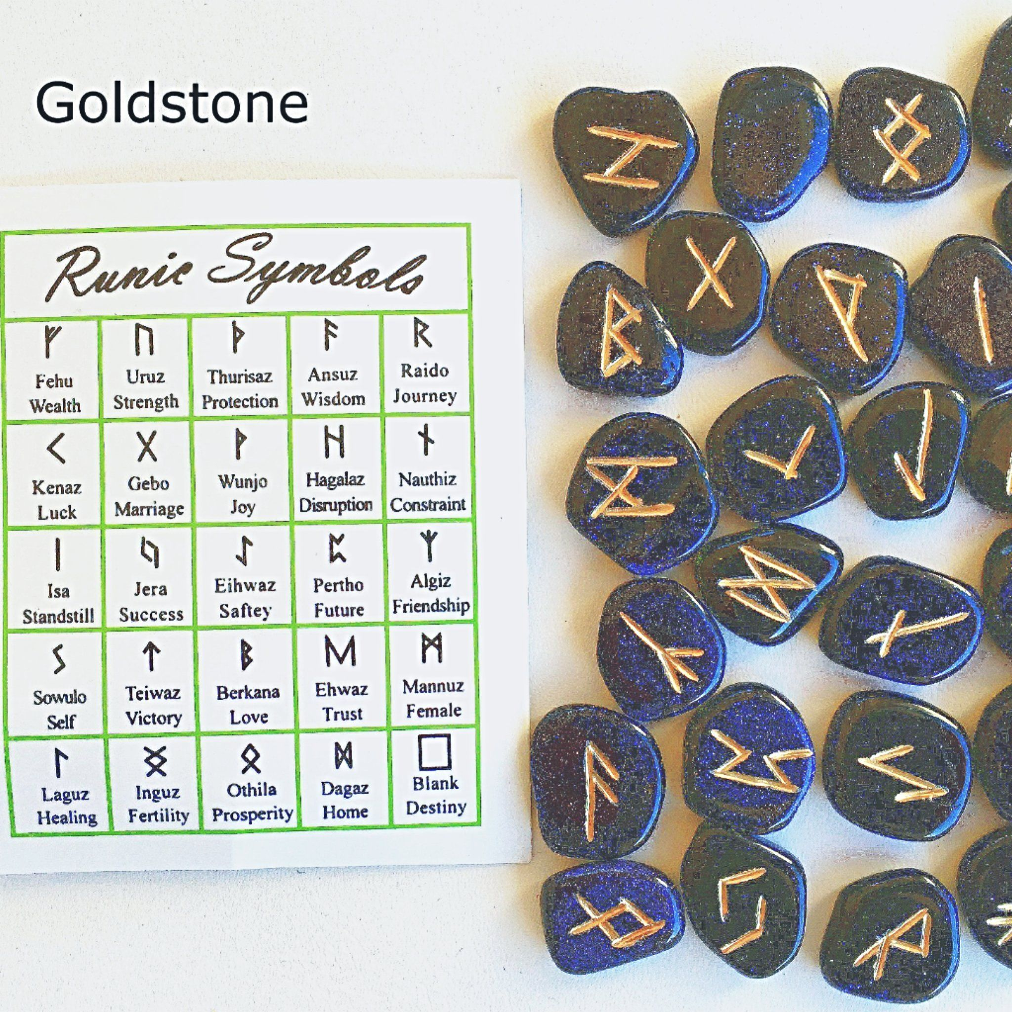 Blue Goldstone Rune Stones New Earth Gifts In 2021 Blue Goldstone Meaning Rune Stones Earth Gift