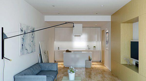 Minimalistische Wohnungseinrichtung