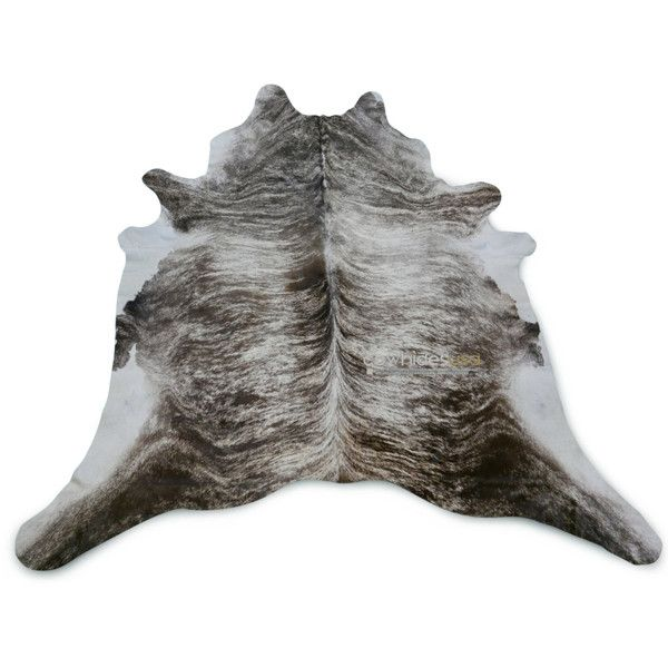silver grey brindle cowhide rug size 8 x 75 ft huge gray cow hide