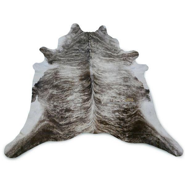 silver grey brindle cowhide rug size 8 x 75 ft huge gray cow hide