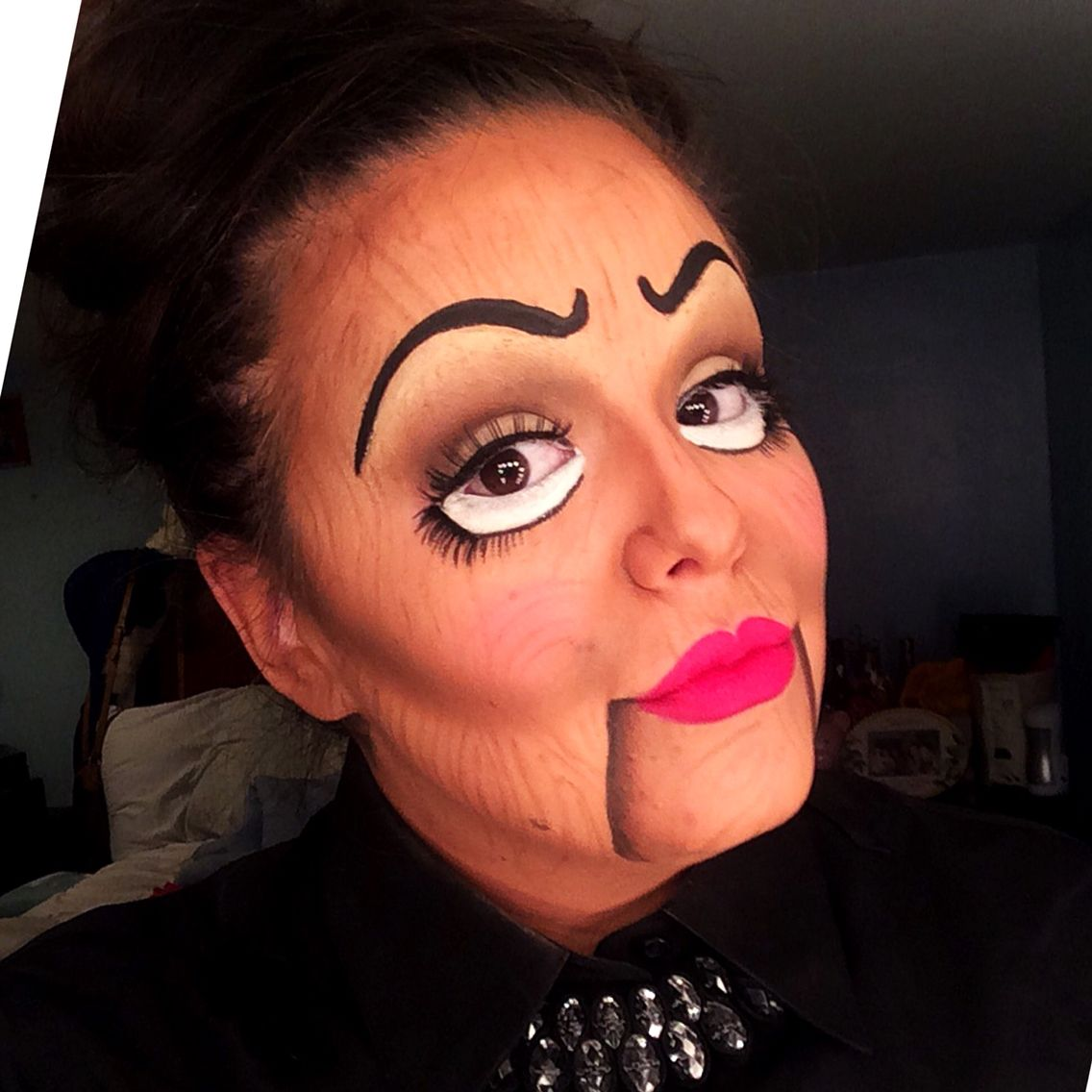 wooden ventriloquist doll makeup done by kween - Where Can I Get Halloween Makeup Done