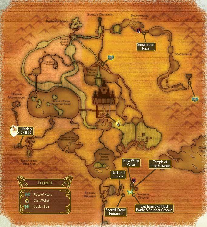 map of hyrule in twilight princess wii version nerd