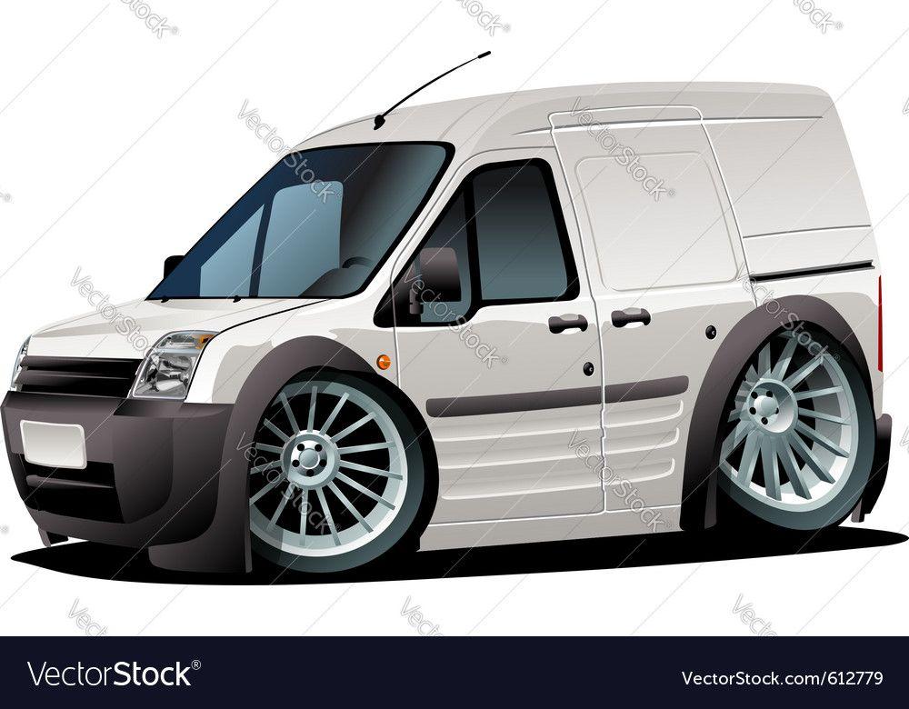 Cartoon Delivery Van Royalty Free Vector Image Ad Van