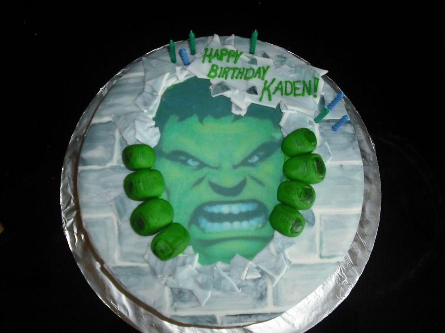 Hulk Themed Cake hulk cake birthday cake for an incredible hulk