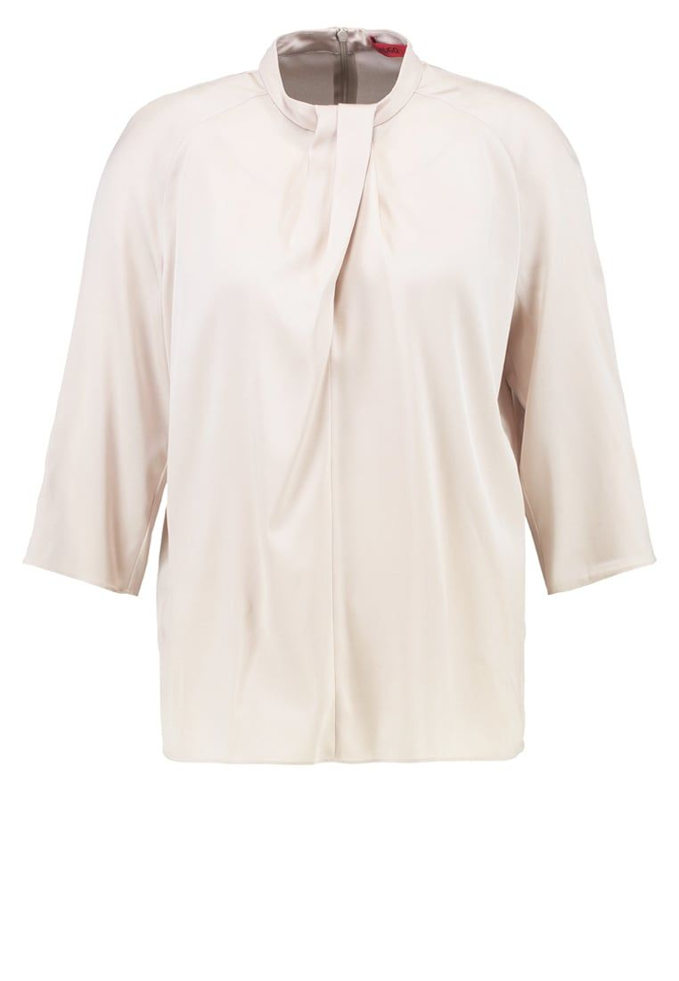 bdbbf3e0a426e Boss blouses - When material and color are right HUGO Women Blouses u0026  Tunics CLELO - Blouse - stone,hugo boss outlet online,hugo boss shoes  sneakers ...
