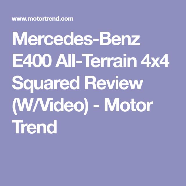 Mercedes-Benz E400 All-Terrain 4x4 Squared Review (W/Video