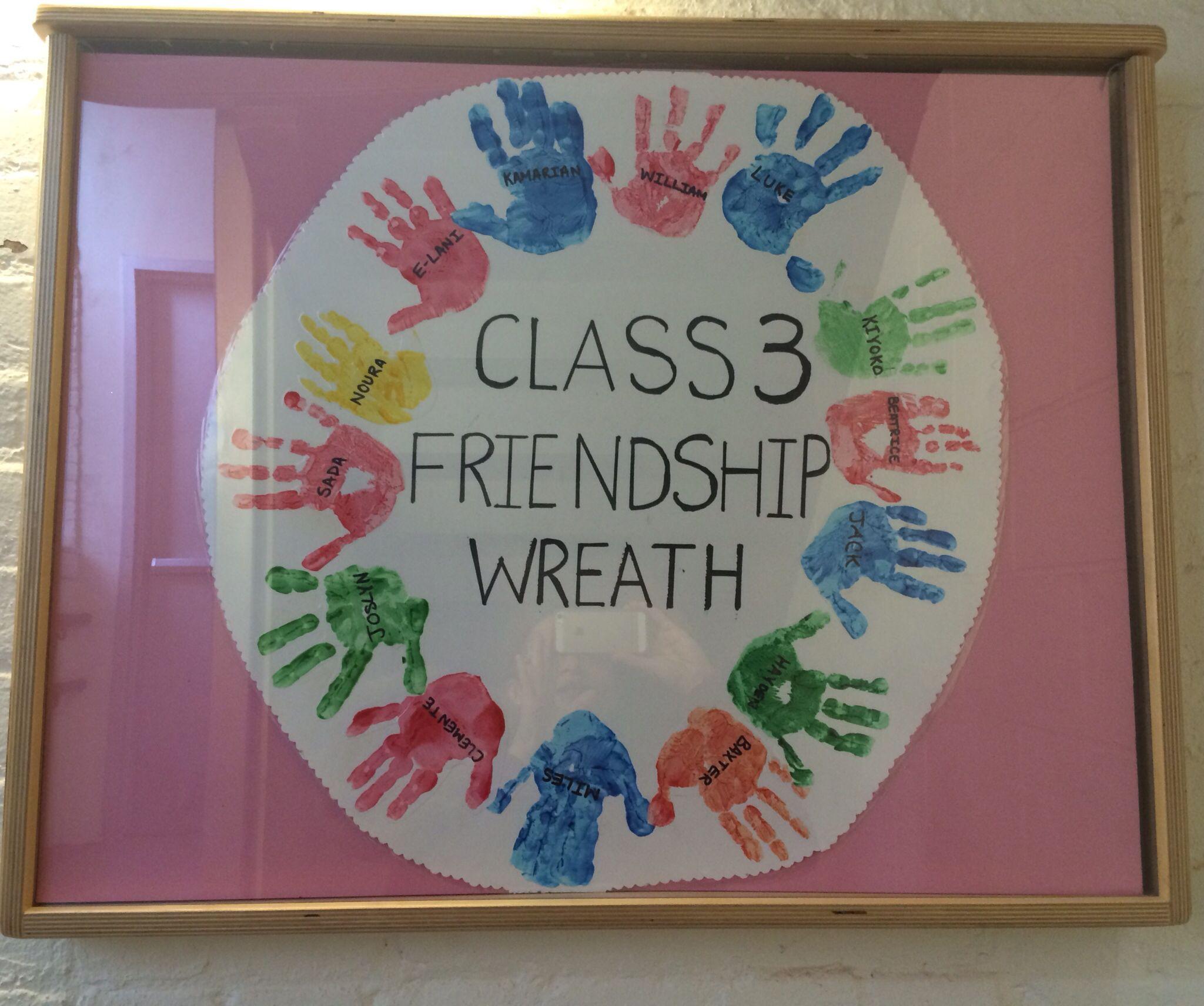 Handprint Friendship Wreath Classroom Activities- 3