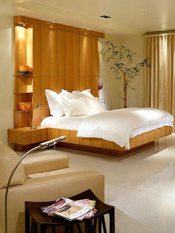 contemporary bedroom design with headboard storage by jamie