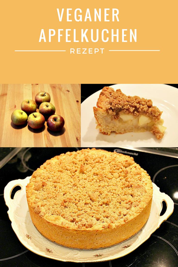 Veganer Apfelkuchen Mit Streusel Apfelmus In 5 Einfachen