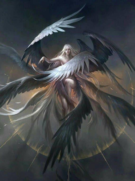 5D Diamond Painting Gray Angel Kit