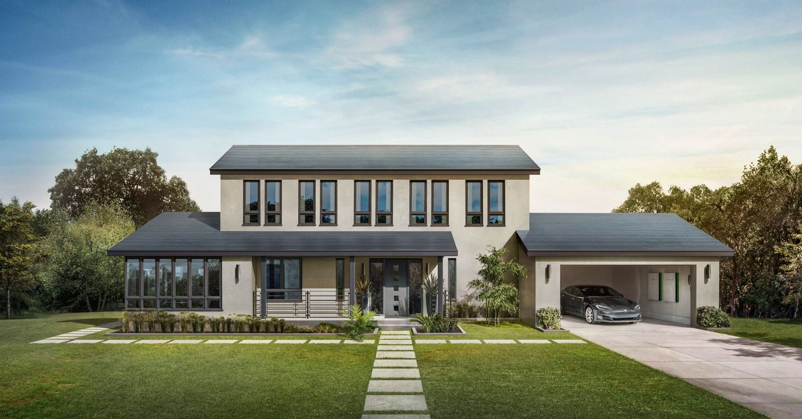 Tesla S New Solar Roof Is Actually Cheaper Than A Normal Roof Tesla Solar Roof Solar Tiles Solar Roof