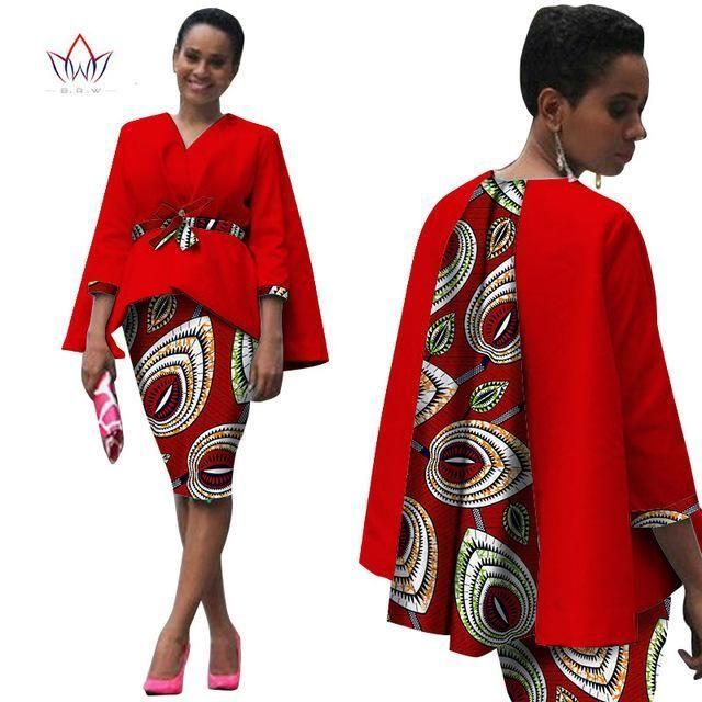 Photo of Africa Style Women African Clothing/ 2 Piece Set Dress Suit …