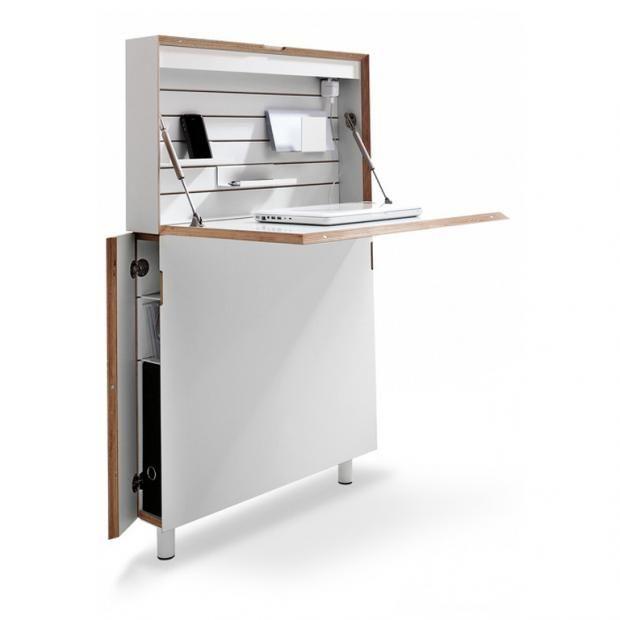 Sekretare Mit Schonem Design Klappschreibtisch Platzsparende Mobel Schreibtisch Schmal