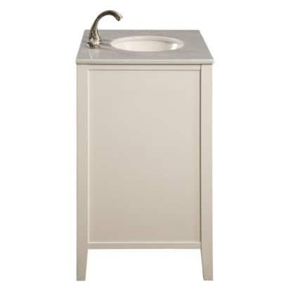 Elegant Decor VF-1004 Single Bathroom Vanity Set - White | Hayneedle