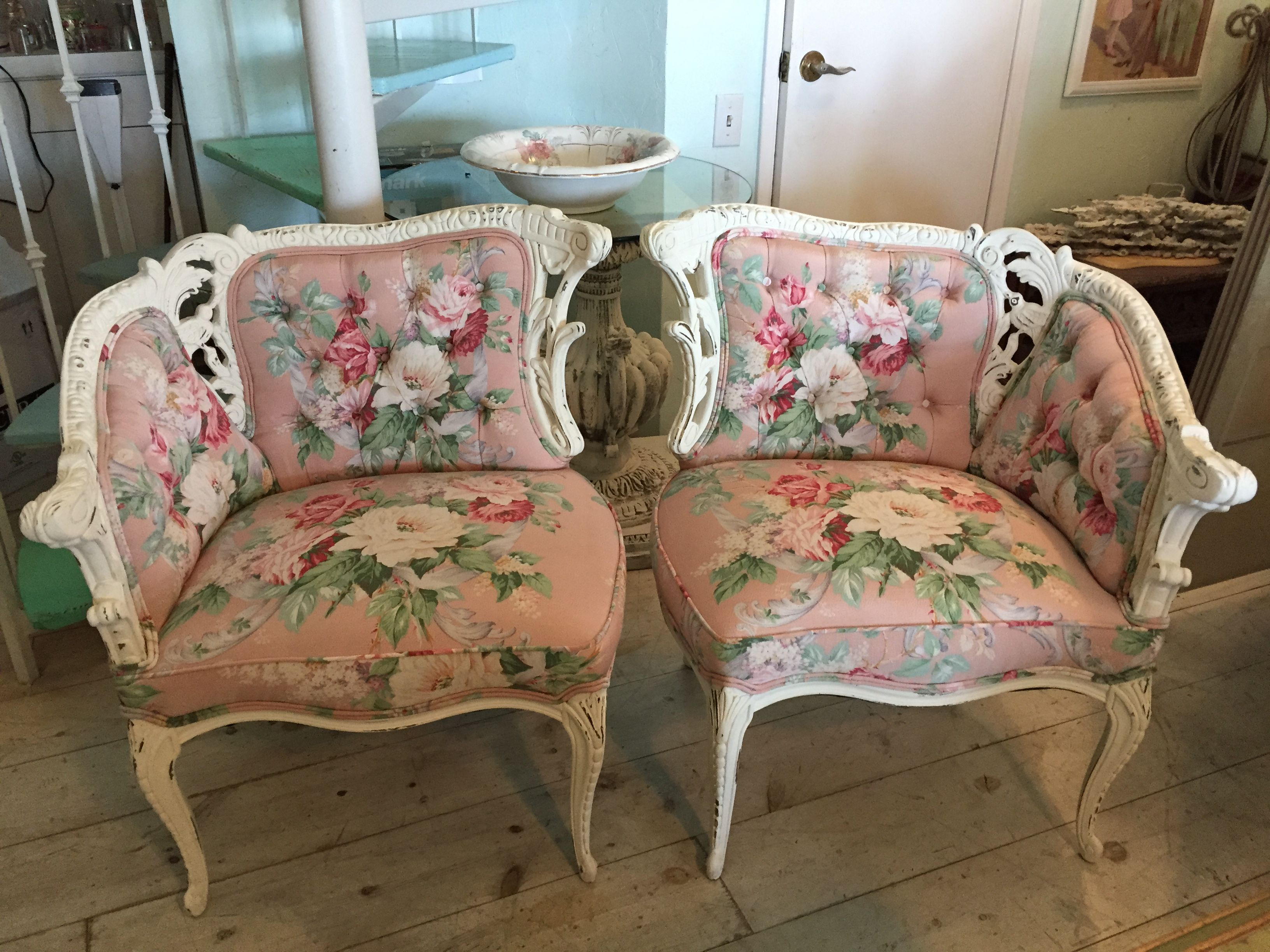 chairs pin distressed and in cottage white painted hand old