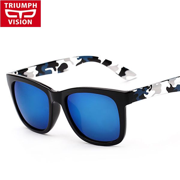 2dc3c459940 TRIUMPH VISION Camouflage Sunglasses Men Brand Designer Unisex Shades  Fashion 2016 Sun For Glasses Men Multicolor