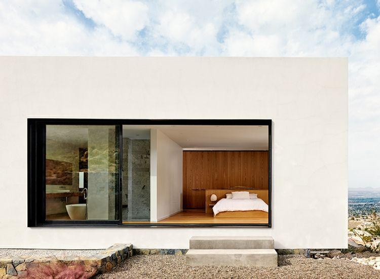 Schlafzimmer im Privatresidenz mit großer Fensterfront - kleines schlafzimmer fensterfront