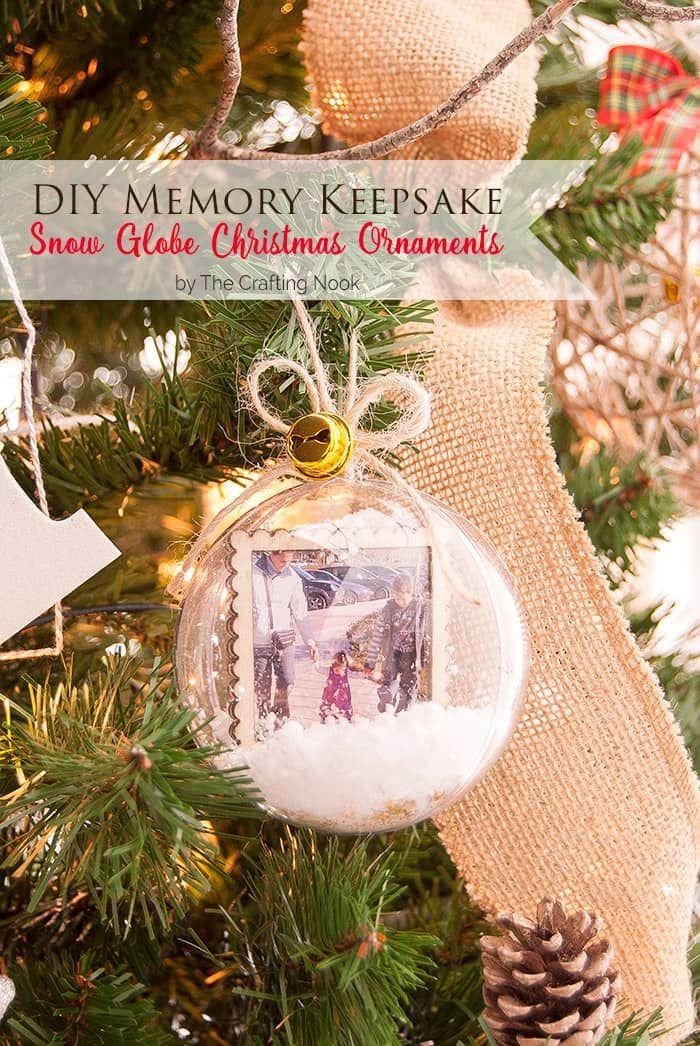 45+ Personalized DIY Christmas Ornament Ideas Diy