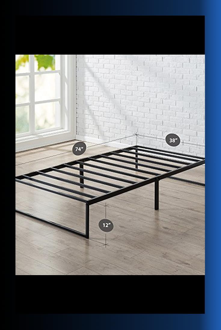 Zinus Lorelei 12 Inch Platforma Bed Frame Mattress Foundation