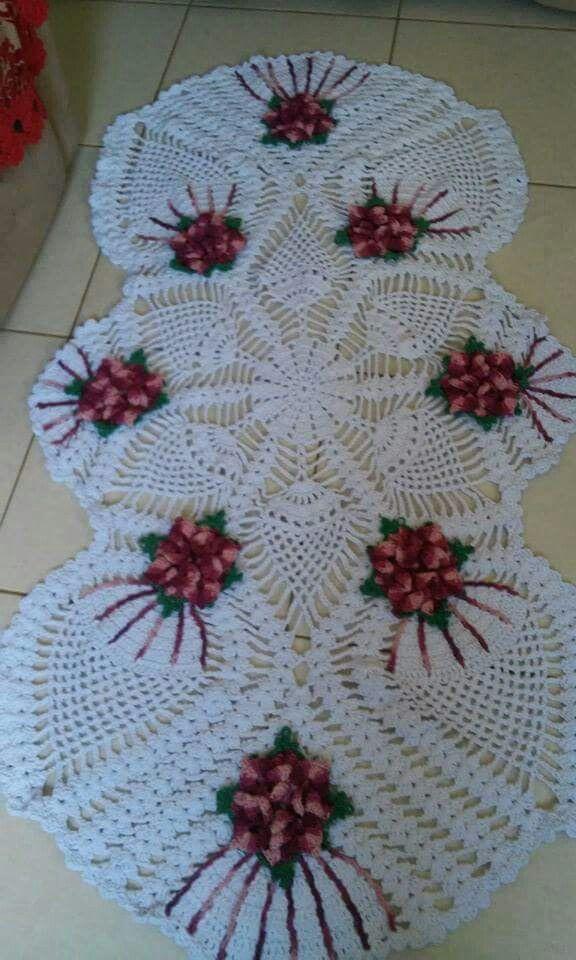 Tapete en crochet muestras crochet pinterest for Centros de mesa de ganchillo