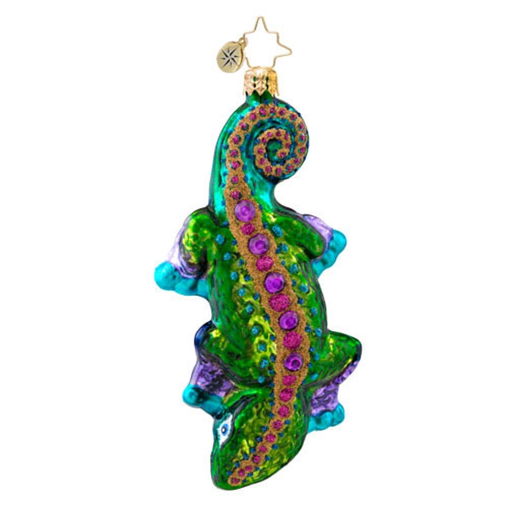 Christopher Radko Ornaments 2014   Radko Christmas Ornament Nifty Newt Lizard