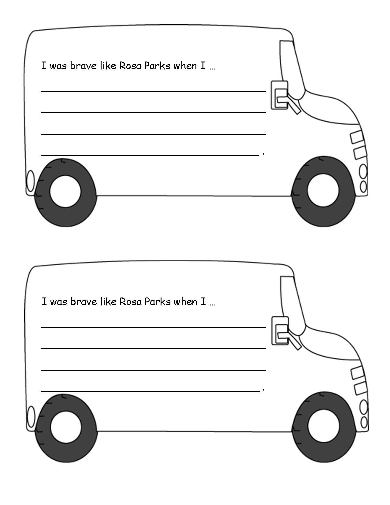 Rosa Parks Worksheet Grade 1