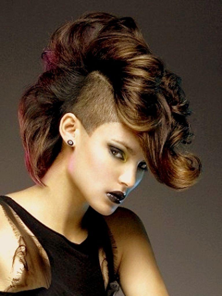 Awe Inspiring Curly Mohawk Style And Girls On Pinterest Short Hairstyles For Black Women Fulllsitofus