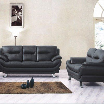 Mod Faux Leather Sofa And Loveseat Set By Tip Top Furniture