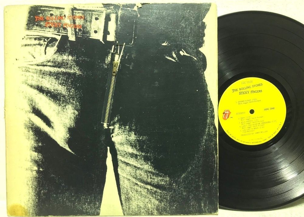 Details about The Rolling Stones Sticky Fingers w/Zipper