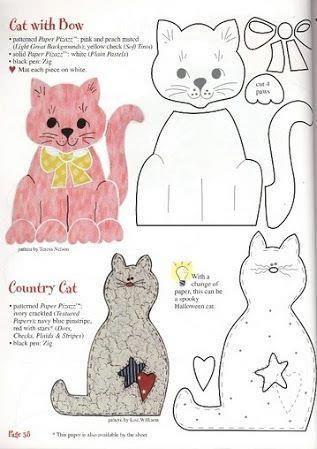 Cat patterns to appliqué … | Pinteres…