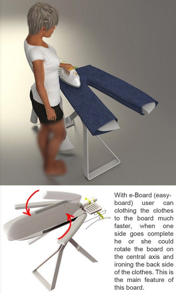Easy Board - I WANT this ironing board!  This is so cool.