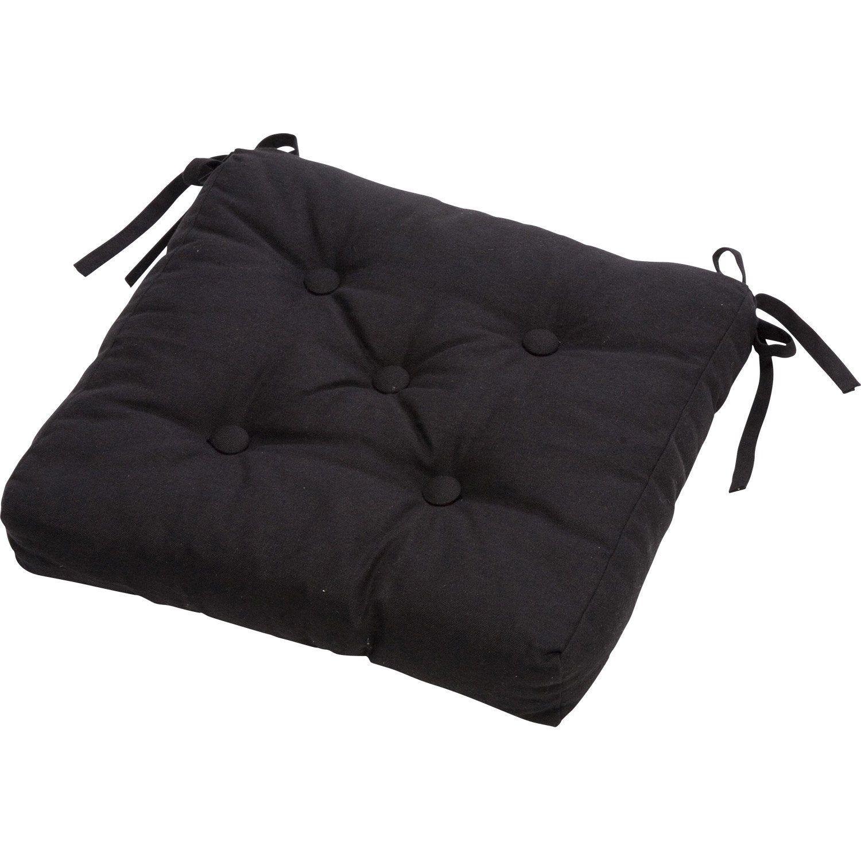 Galette De Chaise Clea Inspire Noir Noir N 0 L 40 X P 40 X H 7 Cm Galette De Chaise Chaise Noir