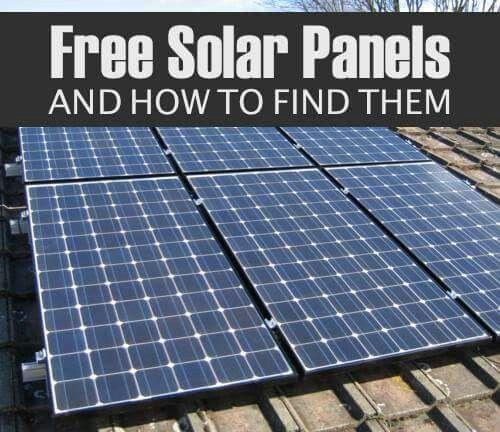 free solar panels diy electrical pinterest heizung. Black Bedroom Furniture Sets. Home Design Ideas