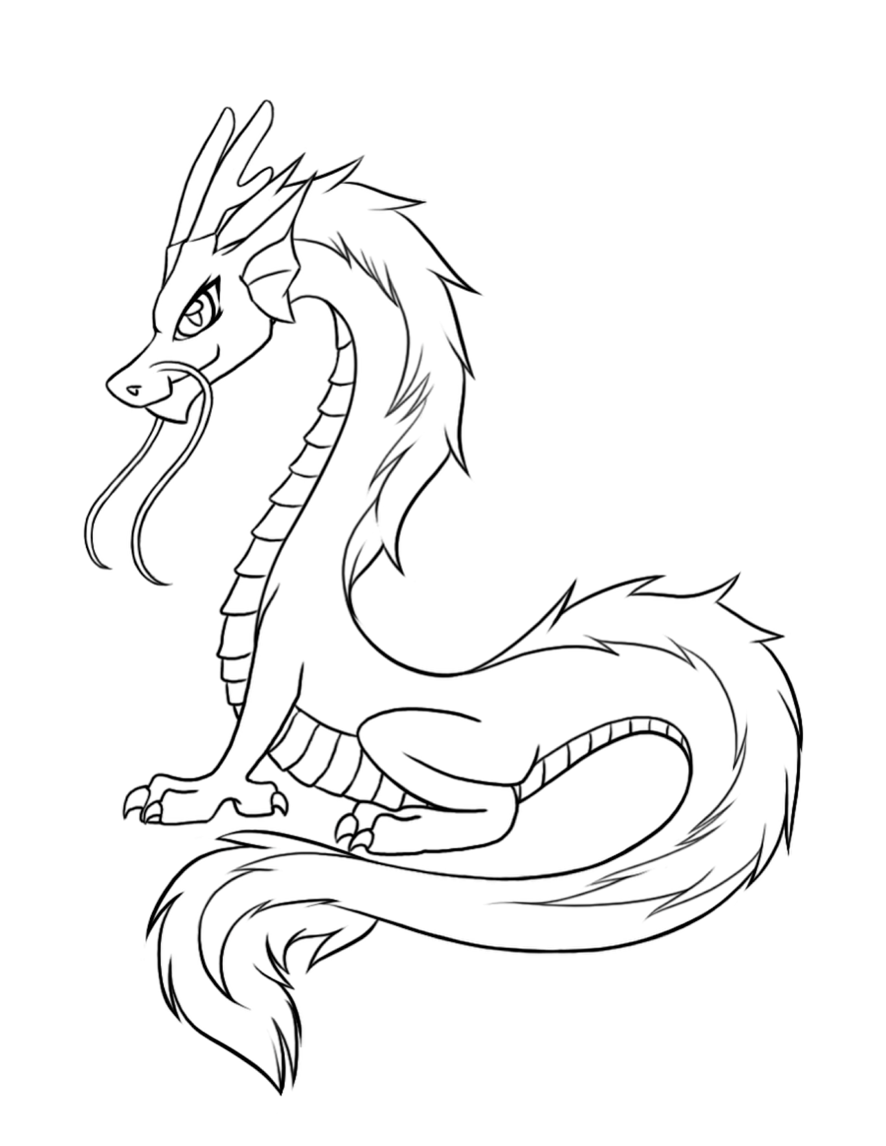 Free Printable Dragon Coloring Pages For Kids | Dragon sketch ...