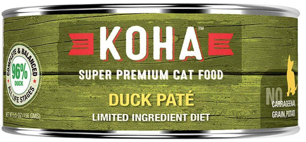 Koha cat limited ingredient pate grain free duck 2455oz