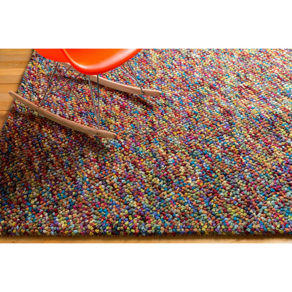 Hand-woven Tanitic Multi Color Burgundy Plush Shag Rug | Overstock.com Shopping