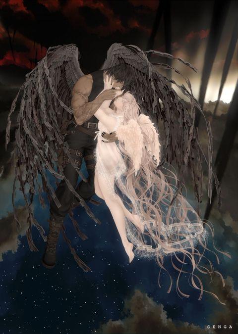 2014年12月artslaboさんの天使悪魔展2014のフライヤーイラスト